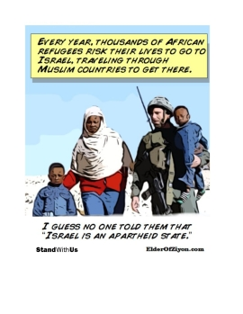 """cartoon - """"I guess no one told them that Israel is an apartheid state."""""""