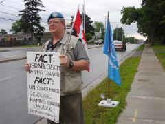 Mark Vandermaas, 'Blue Beret Vigil,' Day 9, London, Ontario, Canada, July 02/11