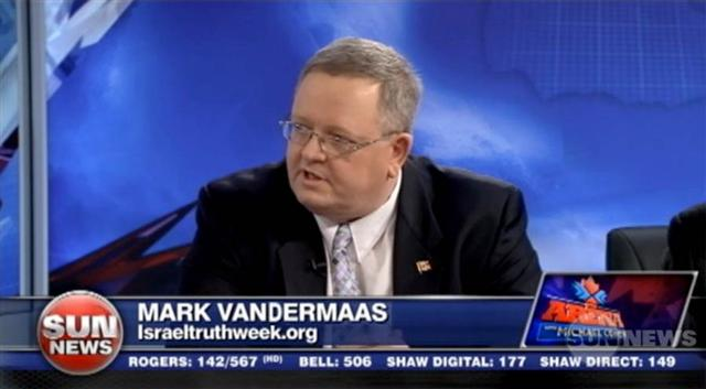 120307 SUN TV, Michael Coren show: Mark Vandermaas- 'Israel Truth Week'