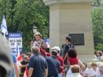 Mark Vandermaas speaks to 2,500+ at Canadians For israel Peace & Democracy Rally, Queen's Park, Toronto, Ontario, Canada, July 26/14