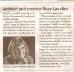 Hamilton Spectator - Activist and mentor Rose Lax dies