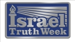 "Every guest receives a free Israel Truth Week lapel pin! (actual size = 1""x3/4"")"