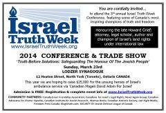 2014 Israel Truth Week Conference